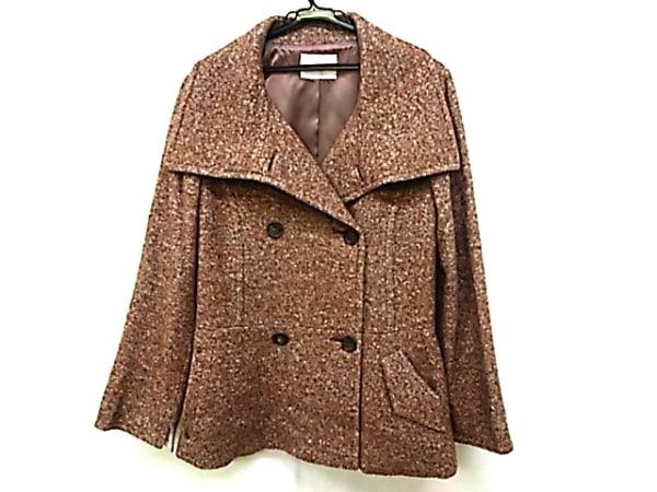 イオコムイオ センソユニコ コート サイズ38 M レディース ブラウン×アイボリー 冬物