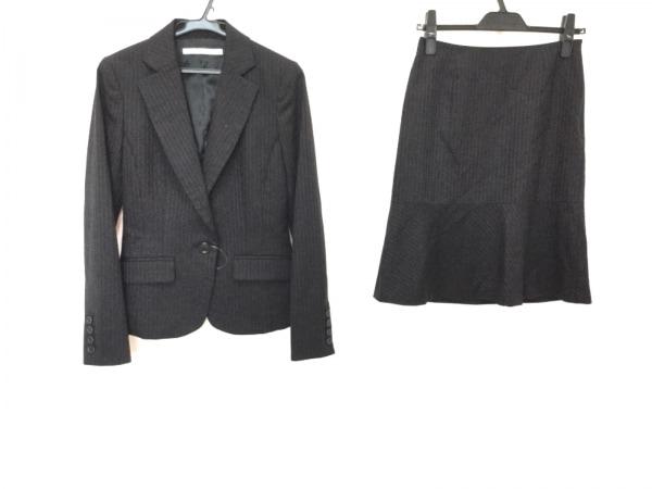 Luxjewel(ラグジュエル) スカートスーツ サイズ2 M レディース 黒 ストライプ