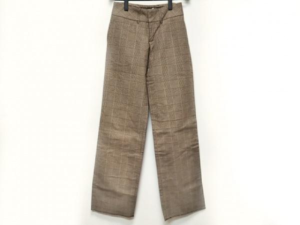 フルカウント パンツ サイズ1 S レディース美品  ダークブラウン×ベージュ×マルチ