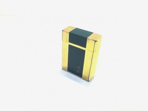 Dupont(デュポン) ライター ゴールド×グリーン 着火確認できず 金属素材