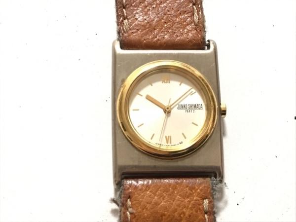 JUNKO SHIMADA(ジュンコシマダ) 腕時計 V306-6480 レディース 革ベルト シルバー