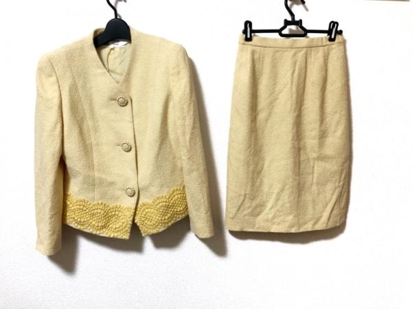 HARDY AMIES(ハーディエイミス) スカートスーツ サイズ9 M レディース美品  イエロー