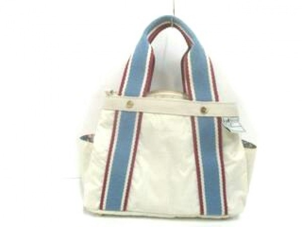 LESPORTSAC(レスポートサック) ハンドバッグ美品  ベージュ×ライトブルー×ボルドー