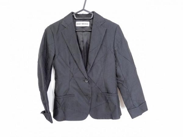 ISSEYMIYAKE(イッセイミヤケ) ジャケット サイズ1 S レディース 黒 ストライプ