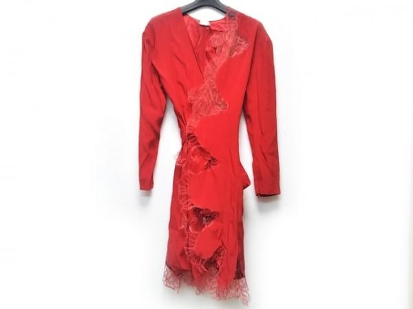 ALEXIS MABILLE(アレクシスマビーユ) ドレス サイズ36 S レディース美品  レッド