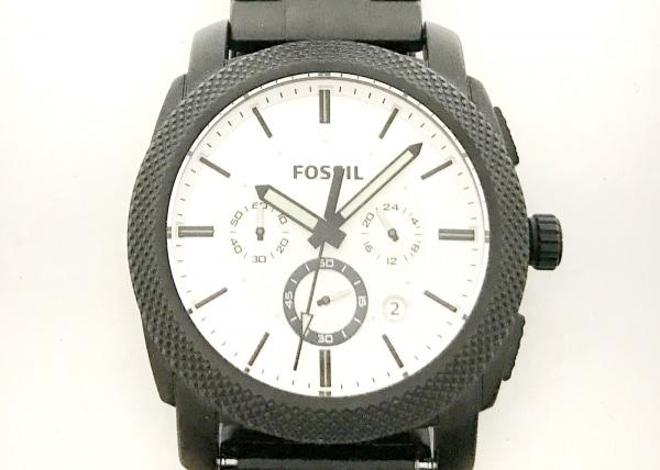 FOSSIL(フォッシル) 腕時計美品  FS5092 メンズ クロノグラフ シルバー