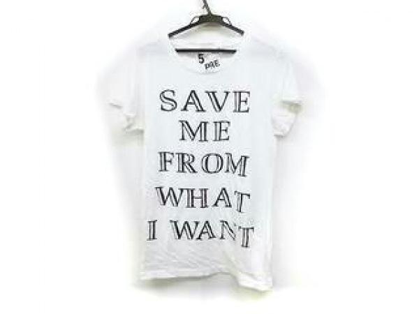 5preview(ファイブプレビュー) 半袖Tシャツ サイズS レディース 白×黒