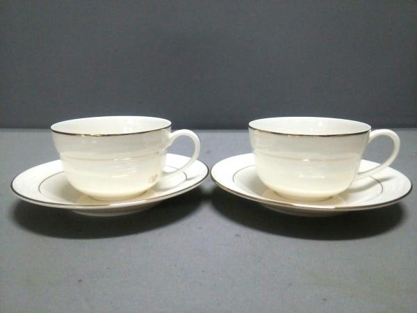 バレンチノガラバーニ カップ&ソーサー新品同様  白×ゴールド 2セット 陶器