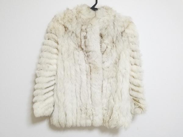 サガフォックス コート サイズ13 L レディース アイボリー 冬物/ファーコート