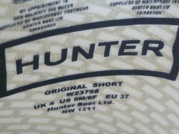 HUNTER(ハンター) レインブーツ レディース パープル ラバー