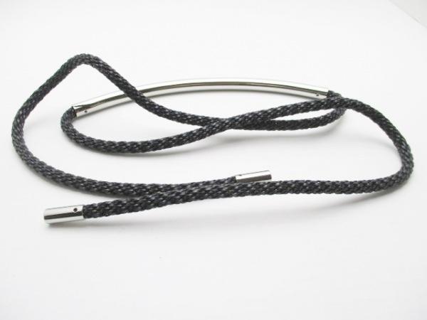 ディーゼルブラックゴールド ベルト 黒×シルバー レザー×金属素材