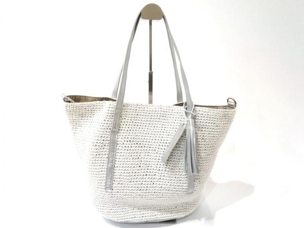 Anti-Forme(アンチフォルム) トートバッグ美品  白×シルバー 化学繊維×合皮