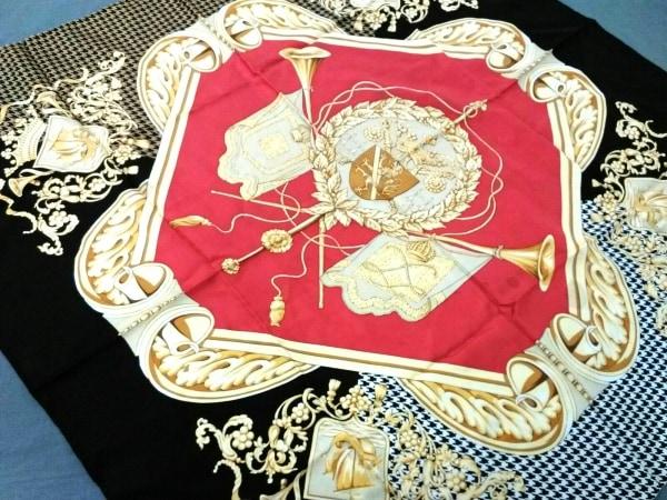 MAPPIN&WEBB(マッピン&ウェッブ) スカーフ美品  レッド×黒×マルチ 花柄