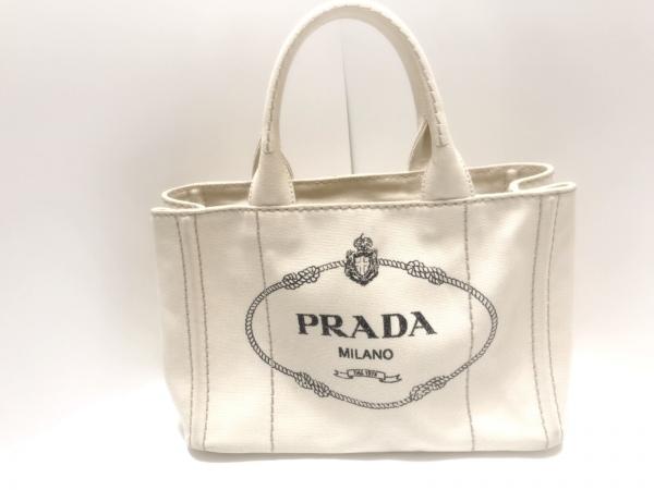 PRADA(プラダ) トートバッグ CANAPA 1BG439 アイボリー キャンバス