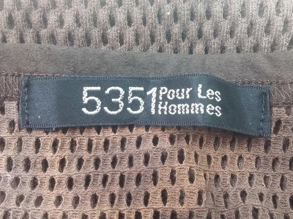 5351 PourLesHomme(5351プールオム) タンクトップ メンズ ダークブラウン