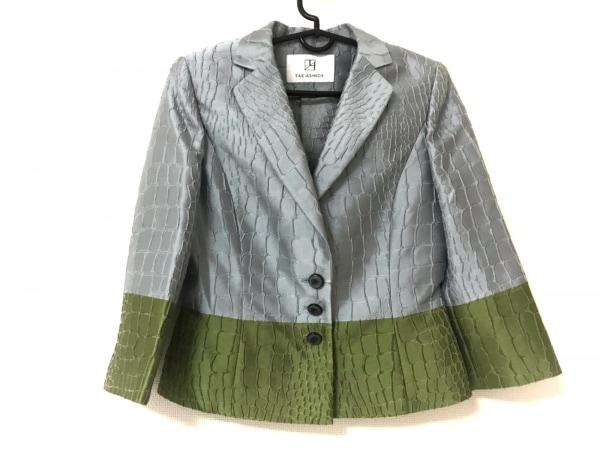 タエアシダ ジャケット サイズ7 S レディース美品  グレー×ライトグリーン