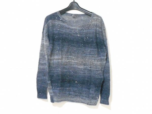 ヴィンス 長袖セーター サイズS レディース美品  ダークグレー×グレー スパンコール