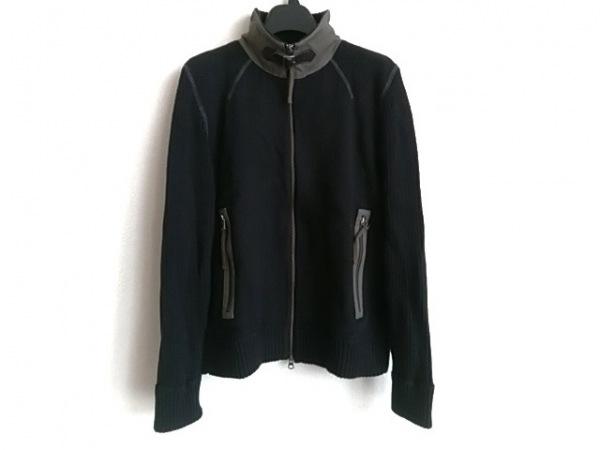 TAKEOKIKUCHI(タケオキクチ) ブルゾン サイズ3 L メンズ 黒 ニット/春・秋物