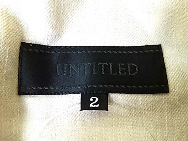 UNTITLED(アンタイトル) ジャケット サイズ2 M レディース ベージュ ジップアップ