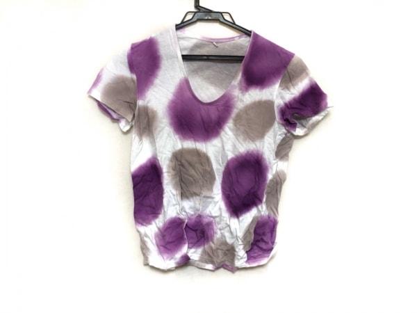 パラスパレス トオカ 半袖Tシャツ サイズ2 M レディース美品  白×パープル×ベージュ