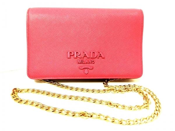 1047b9073831 PRADA(プラダ) 財布 - ピンク チェーンウォレット レザーの中古 | PRADA ...