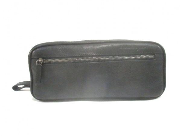 443711334f10 SalvatoreFerragamo(サルバトーレフェラガモ) セカンドバッグ - 黒 レザー