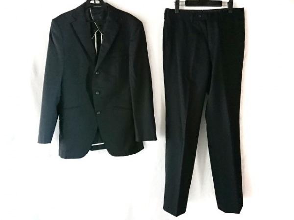 PERSON'S(パーソンズ) シングルスーツ メンズ 黒 イニシャル刻印/ストライプ/FOR MEN