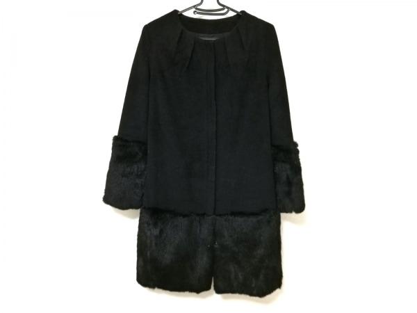 VOLATA(ヴォラータ) コート レディース 黒 ele couture/ジップアップ/ファー/冬物