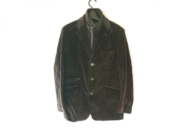 コルネリアーニ ジャケット サイズ48 XL メンズ ダークブラウン ネーム刺繍