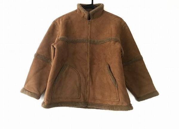 エンスウィート コート サイズ150 メンズ美品  ブラウン フェイクムートン/冬物