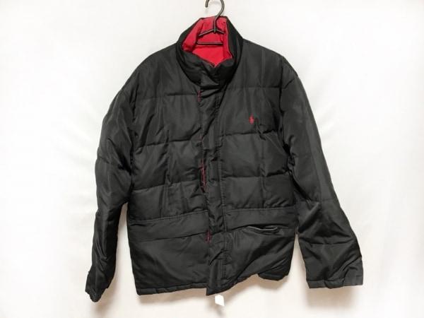 ポロラルフローレン ダウンコート メンズ美品  黒×レッド 冬物/リバーシブル