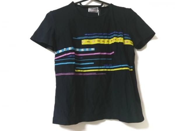 VERSACE SPORT(ヴェルサーチスポーツ) 半袖Tシャツ サイズ42 L レディース美品  ラメ