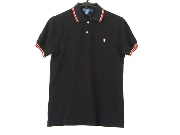 Gymphlex(ジムフレックス) 半袖ポロシャツ サイズM メンズ 黒×レッド×ゴールド