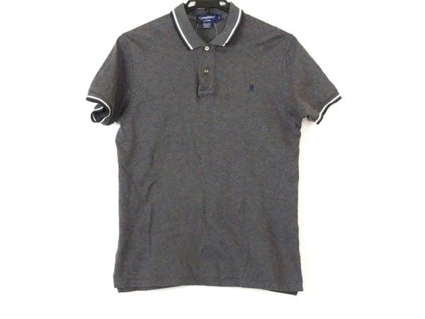 Gymphlex(ジムフレックス) 半袖ポロシャツ サイズM メンズ グレー×白×ネイビー