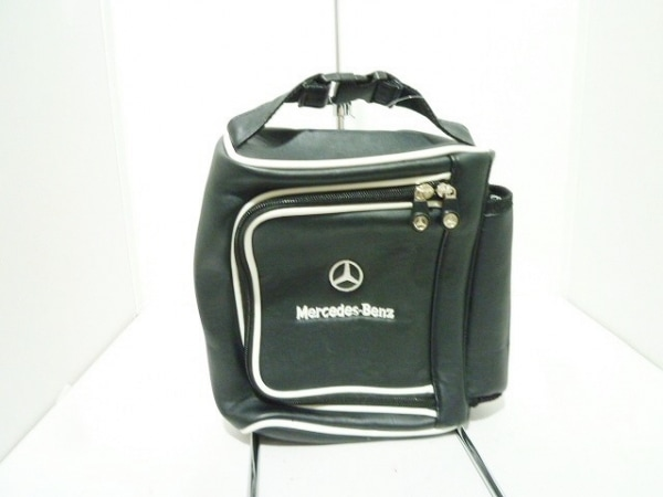 Mercedes-Benz(メルセデスベンツ) ハンドバッグ 黒×白 レザー
