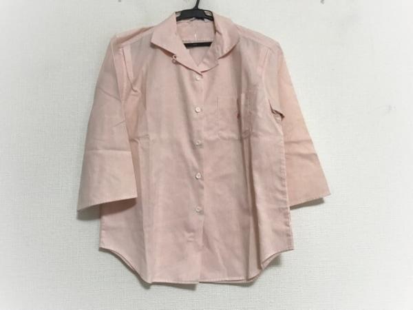 フクゾー 七分袖シャツブラウス サイズ3691 レディース ピンク×白 ストライプ