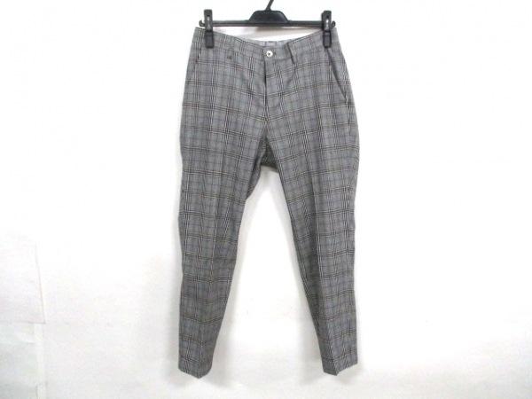 EDIFICE(エディフィス) パンツ サイズS メンズ美品  グレー×黒 グレンチェック柄