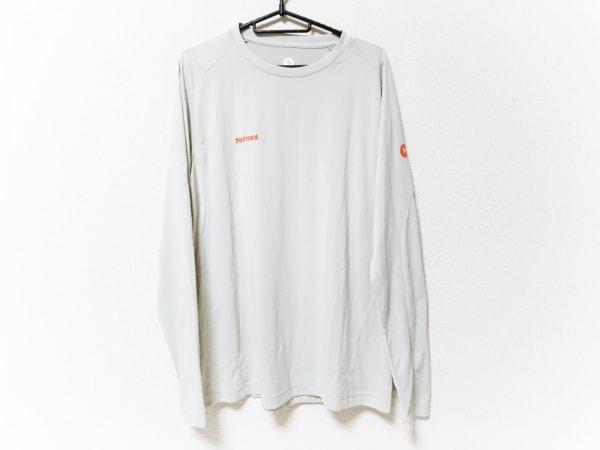 Marmot(マーモット) 長袖Tシャツ サイズXL メンズ美品  ライトグレー