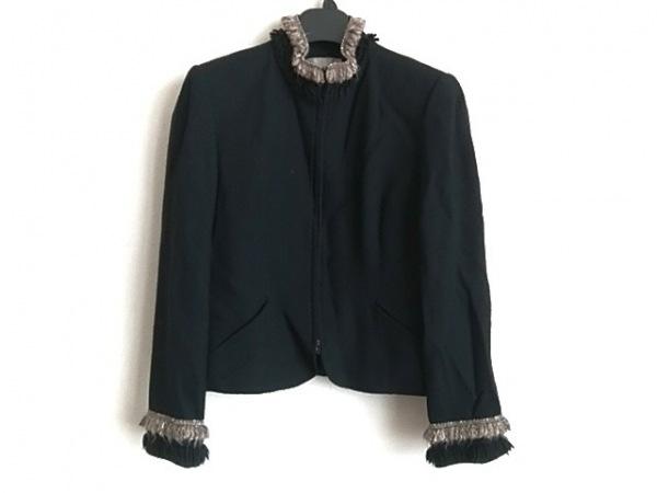 JUN ASHIDA(ジュンアシダ) ジャケット サイズ7 S レディース 黒×アイボリー