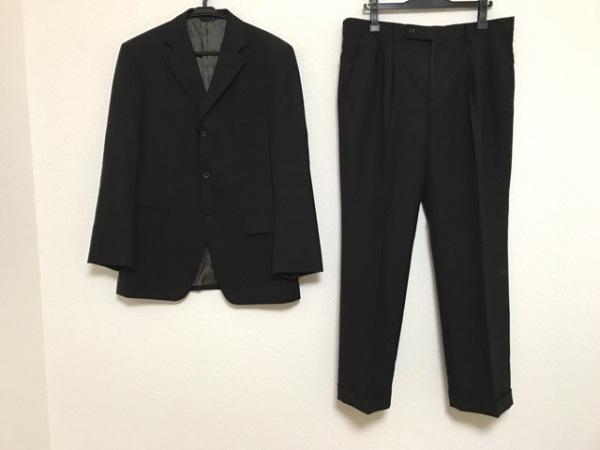 KENT&CURWEN(ケント&カーウェン) シングルスーツ メンズ 黒×ダークブラウン