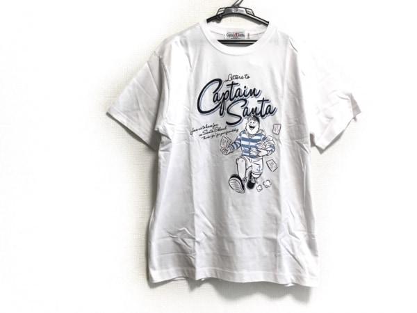 キャプテンサンタ 半袖Tシャツ サイズL メンズ美品  白×黒×ライトブルー
