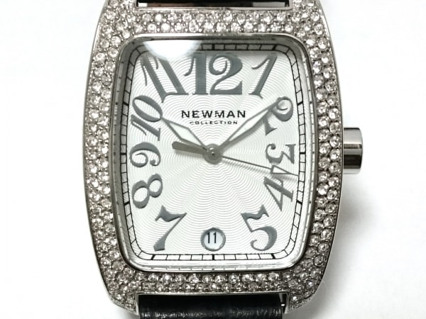 NEWMAN(ニューマン) 腕時計 - レディース ラインストーンベゼル 白