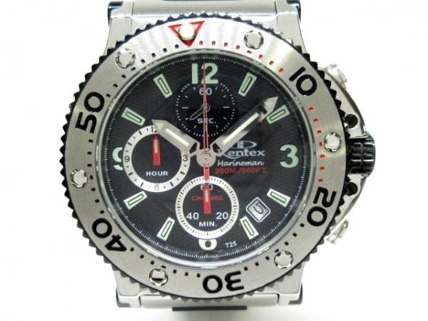 Kentex(ケンテックス) 腕時計美品  マリンマン S601M メンズ 黒