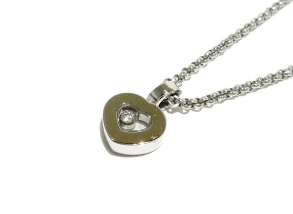 ショパール ネックレス美品  ハッピーダイヤ 79/2897-20 K18WG×ダイヤモンド