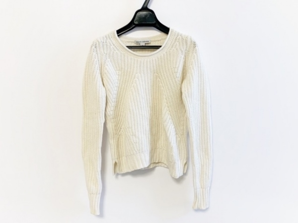 autumn cashmere(オータムカシミヤ) 長袖セーター サイズXS レディース アイボリー