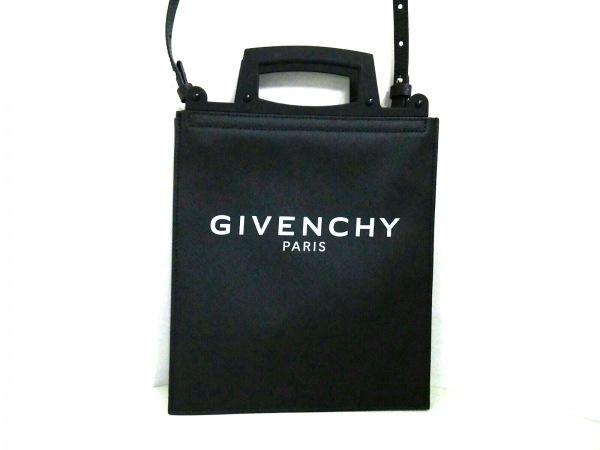 GIVENCHY(ジバンシー) トートバッグ美品  - 黒 レザー×ラバー