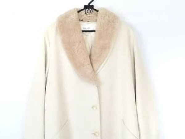 Laurel(ローレル) コート サイズ40 M レディース アイボリー×ライトブラウン 冬物