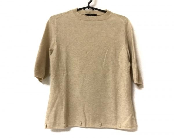 CIVIDINI(チヴィディーニ) 半袖セーター レディース美品  ベージュ カシミヤ