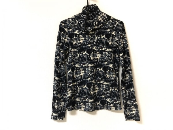 スウィンスウィング 長袖Tシャツ サイズ44 L レディース美品  ブラウン×黒×マルチ