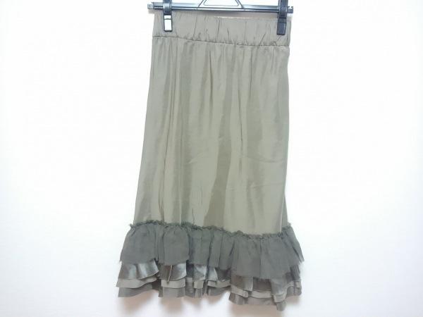 THE SECRET CLOSET(ザシークレットクローゼット) スカート レディース カーキ シルク